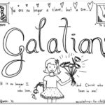 """Galatians"" Bible Book Coloring Page"