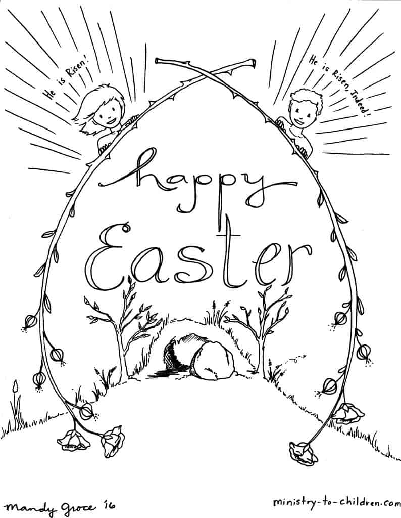 Religious coloring pages for preschoolers - Kids Easter Coloring Sheets
