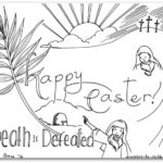 """Death is Defeated"" Easter Coloring Page"