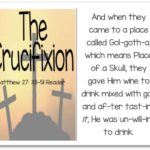 Printable Resurrection Story (Part 6 of 7) The Crucifixion (Matthew 27:33-51)
