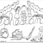 """Ephesians"" Bible Book Coloring Page"