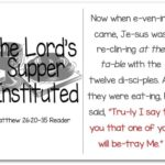Printable Resurrection Story (Part 4 of 7) The Lord's Supper (Matthew 26:20-35)