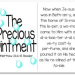 Printable Resurrection Story (Part 2 of 7) The Precious Ointment (Matthew 26:6-13)