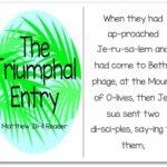 Palm Sunday Story – Triumphal Entry Printable (Matthew 21:1-11)