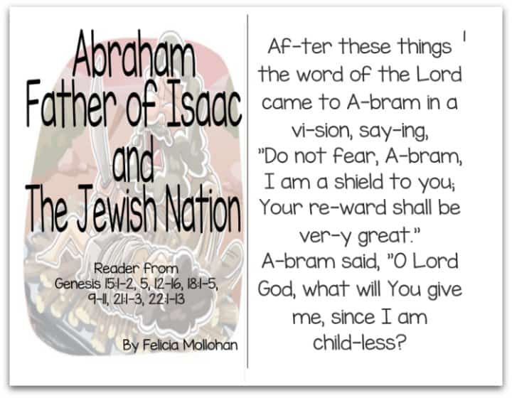 """Abraham, Father of Isaac & the Jewish Nation"" Bible Story Booklet"