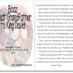 """Boaz, Great Grandfather to King David"" Bible Story Booklet"