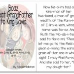 """Boaz, Grandfather to King David"" Story for Early Readers"