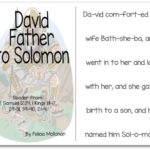 """King David, Father to Solomon"" Story for Early Readers"