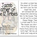 """Jacob, Father of the 12 Tribes of Israel"" Story for Early Readers"