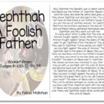 """Jephthah a Foolish Father"" Bible Story Booklet"