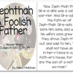 """Jephthah, the Foolish Father"" Story for Early Readers"