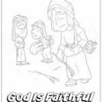 """Ruth, Naomi, and Boaz"" Coloring Page for Kids"