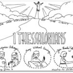 """1 Thessalonians""  Bible Book Coloring Page"