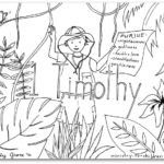 """1 Timothy""  Bible Book Coloring Page"