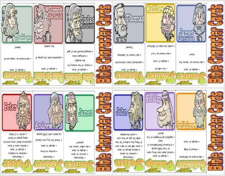 Printable Bible Character Trading Cards - New Testament Part 2 of 2