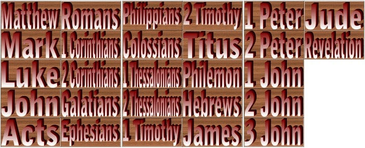"""New Testament Books of the Bible"" Memory Match Game Cards"
