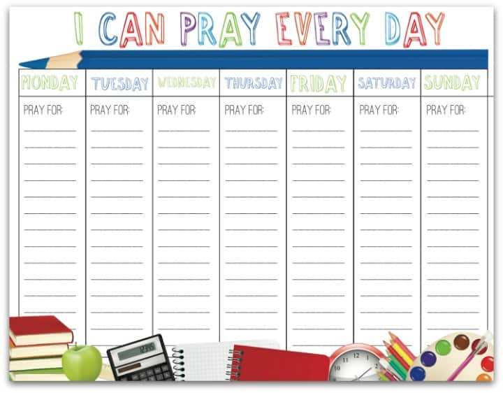 Printable Monthly January Prayer Calendar | Calendar Template 2016