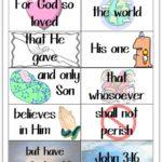 "Printable ""John 3:16"" Bible Memory Flash Cards"