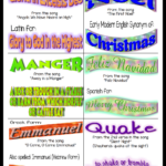Christmas Song Vocabulary