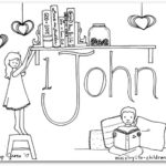 1 john bible book coloring page - Books Bible Coloring Pages