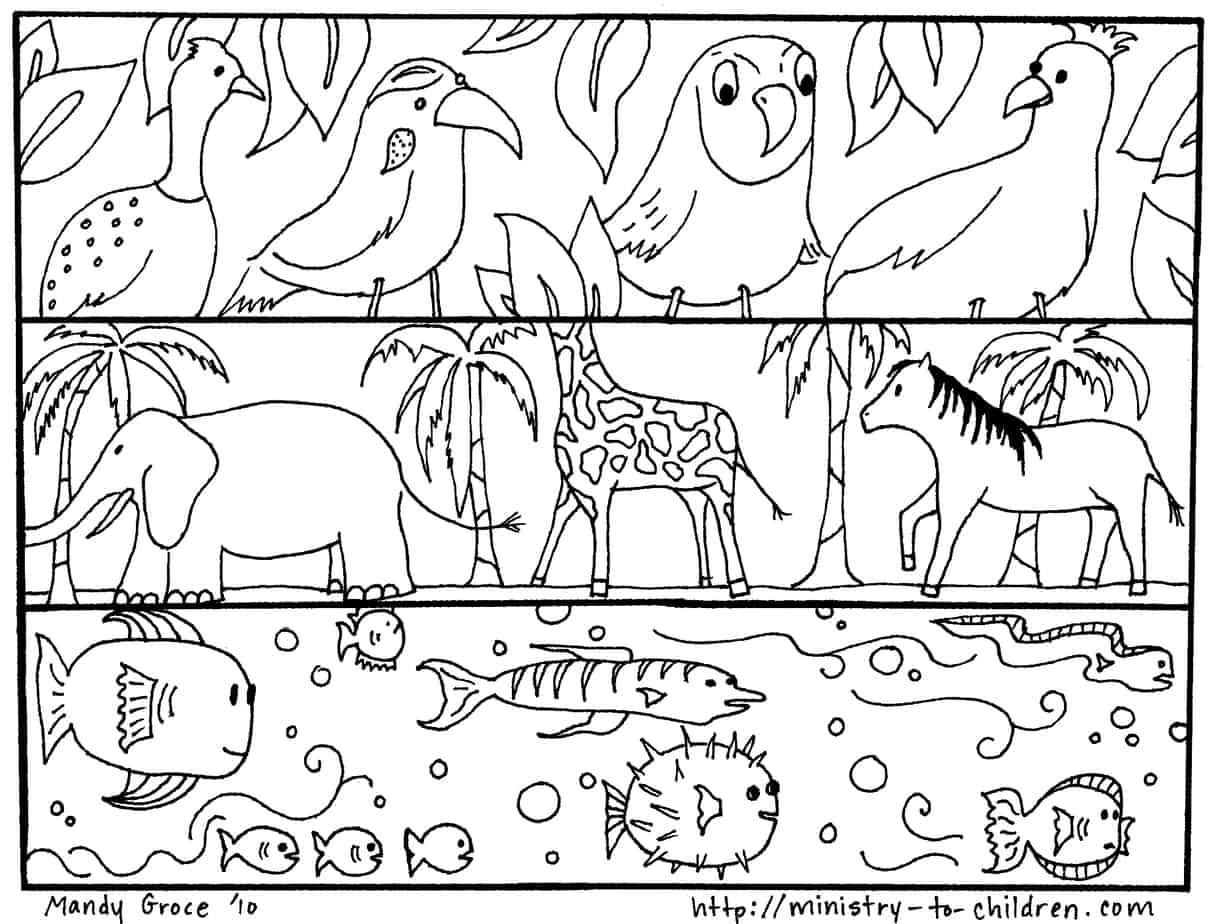 It's just a graphic of Universal God's Creation Coloring Pages