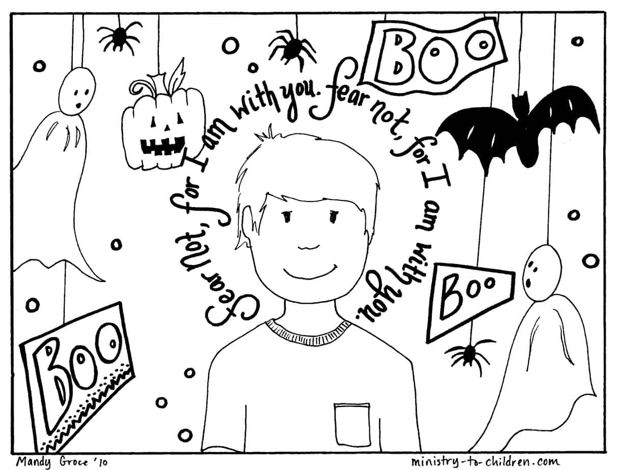- Halloween Coloring Pages (Religious Christian) Do Not Fear!