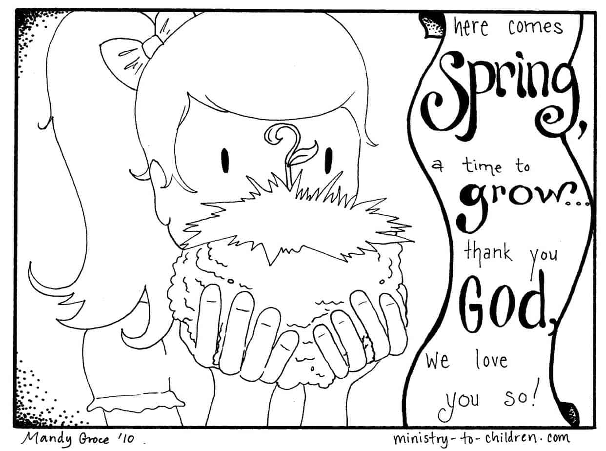 2 Spring Coloring Pages Easy Pdf Print 100 Free