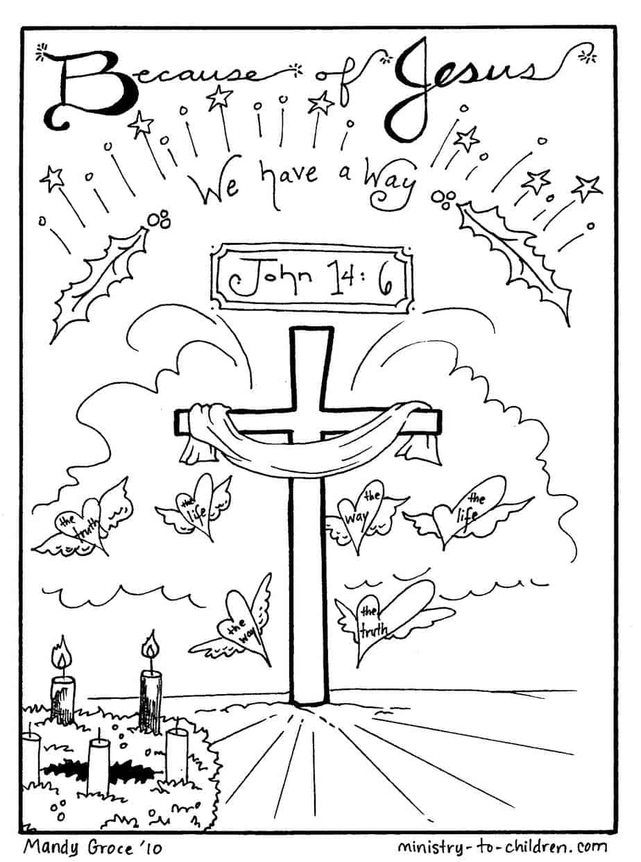 Christmas Coloring Sheets Jesus Is Our Way Free Printable