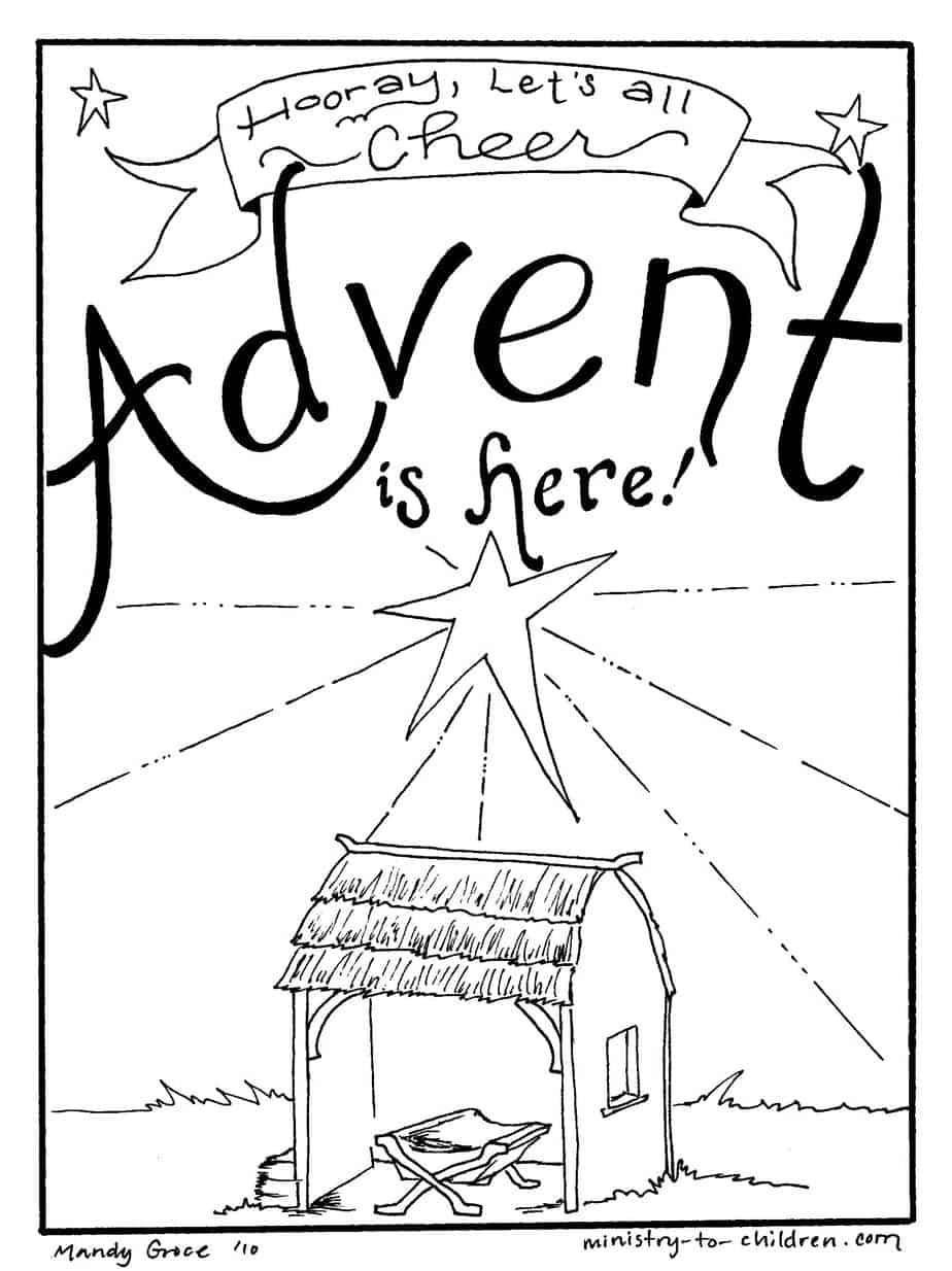 Free Advent Coloring Pages for Kids (Christmas Printables)