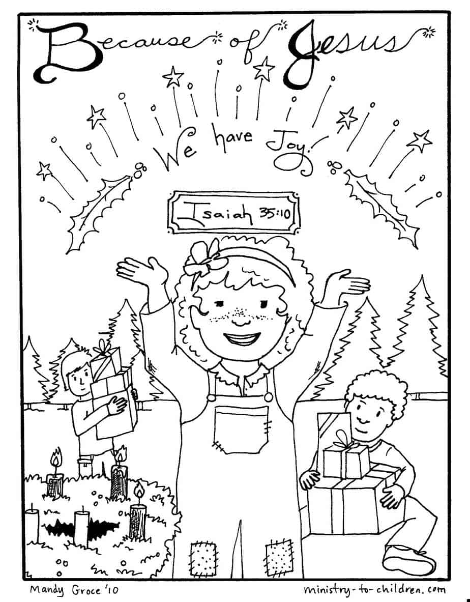 "Advent Coloring Pages ""Jesus Brings Joy"" Free Printables"