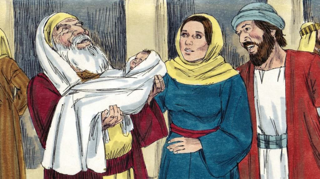 Bible Lesson Simeon and Anna see