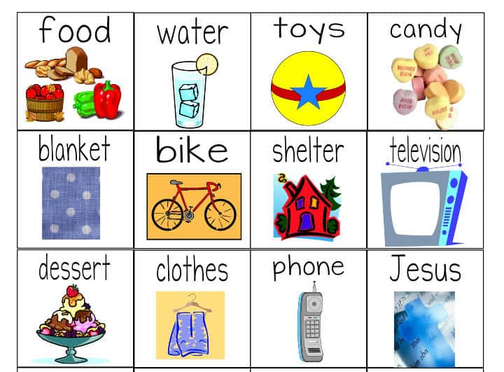 """Number Names Worksheets wants and needs worksheets : Needs Versus Wants"""" Worksheets & Object Lesson for Children"""